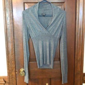 Express V-neck wrap collar sweater
